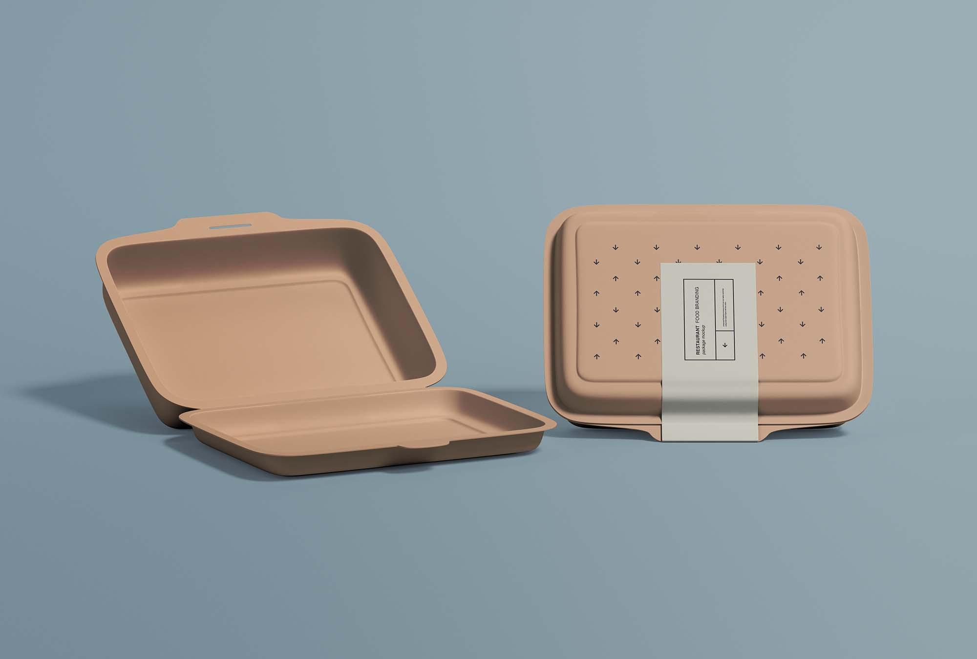 Restaurant Food Packaging Mockup 2