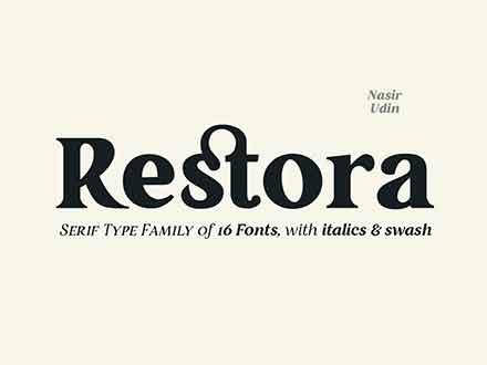 Restora Font Family