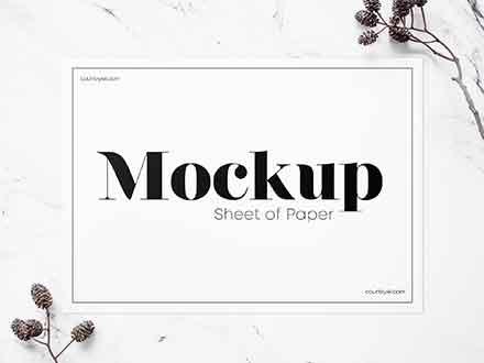 Sheet of Paper Mockup