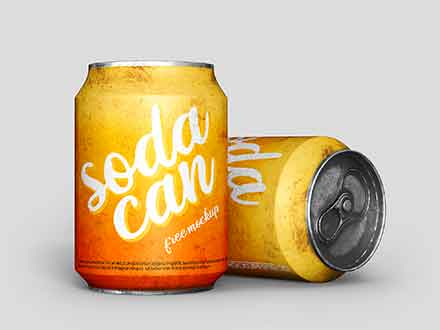 Short Soda Can Mockup