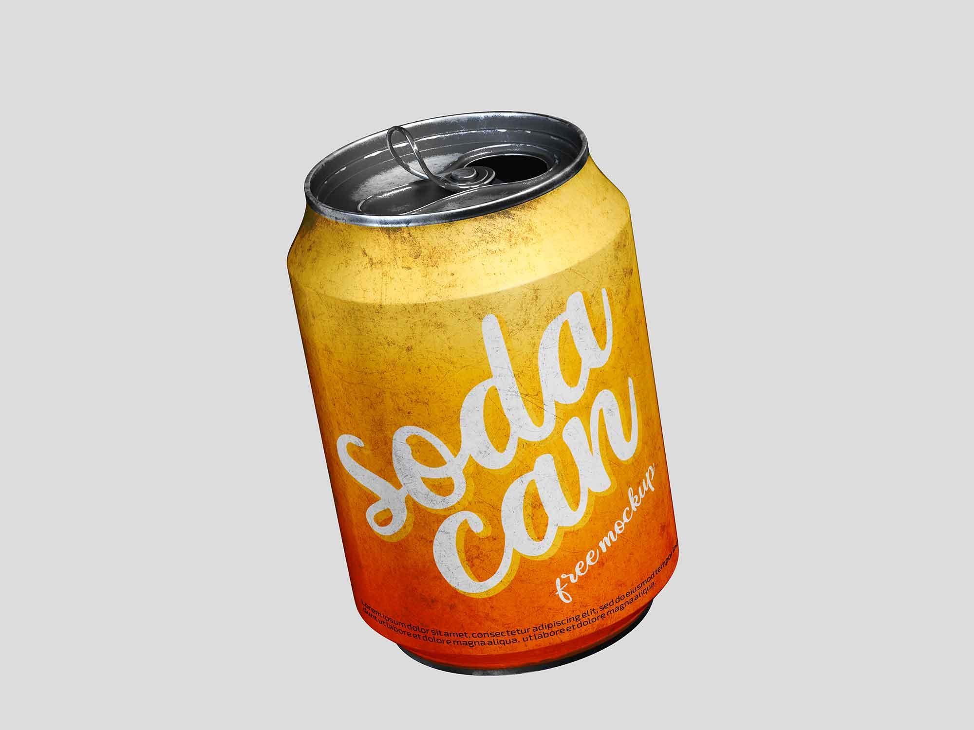 Short Soda Can Mockup 2