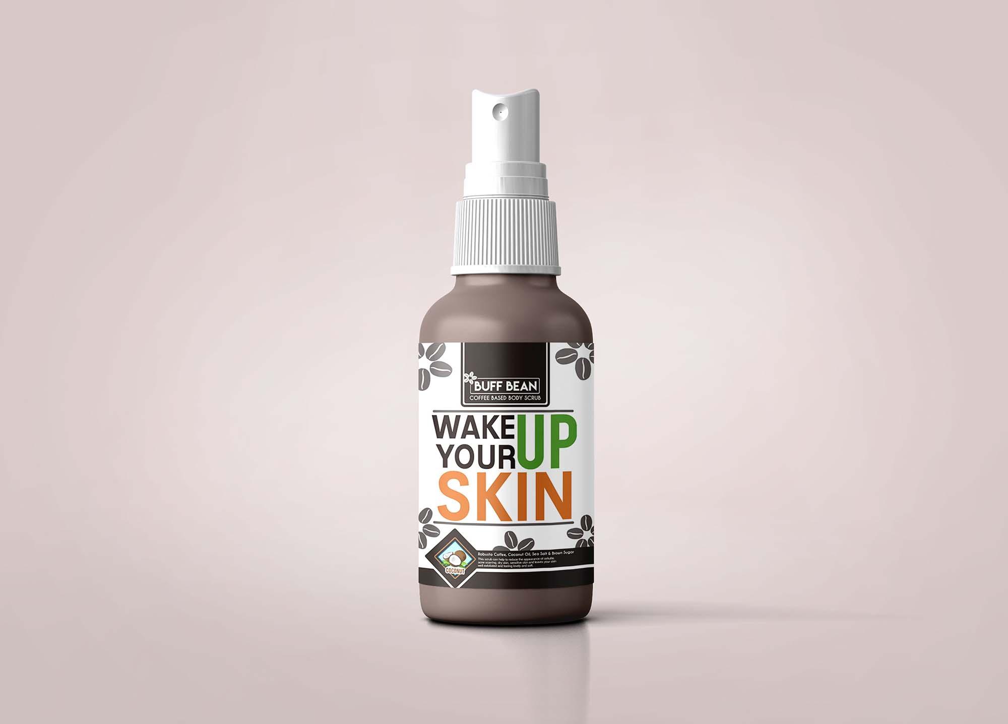 Skin Lotion Bottle Mockup