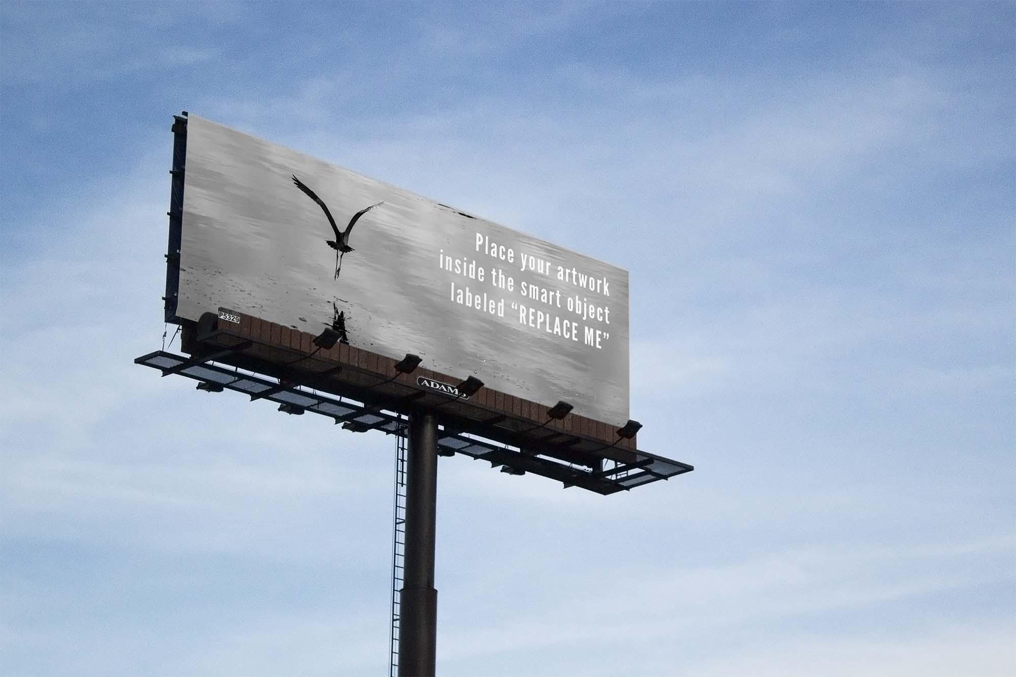 Sky Billboard Mockup
