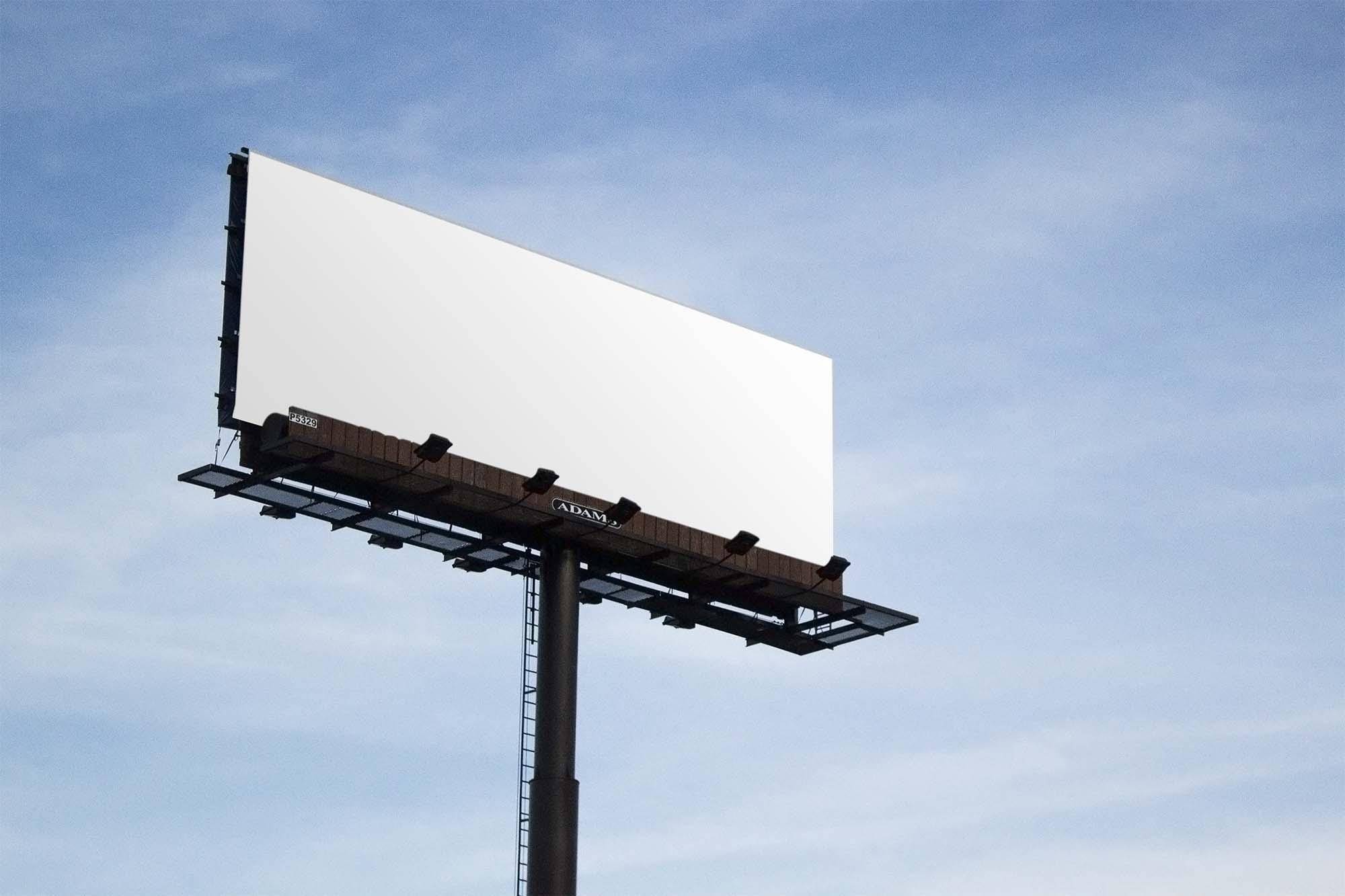 Sky Billboard Mockup 2