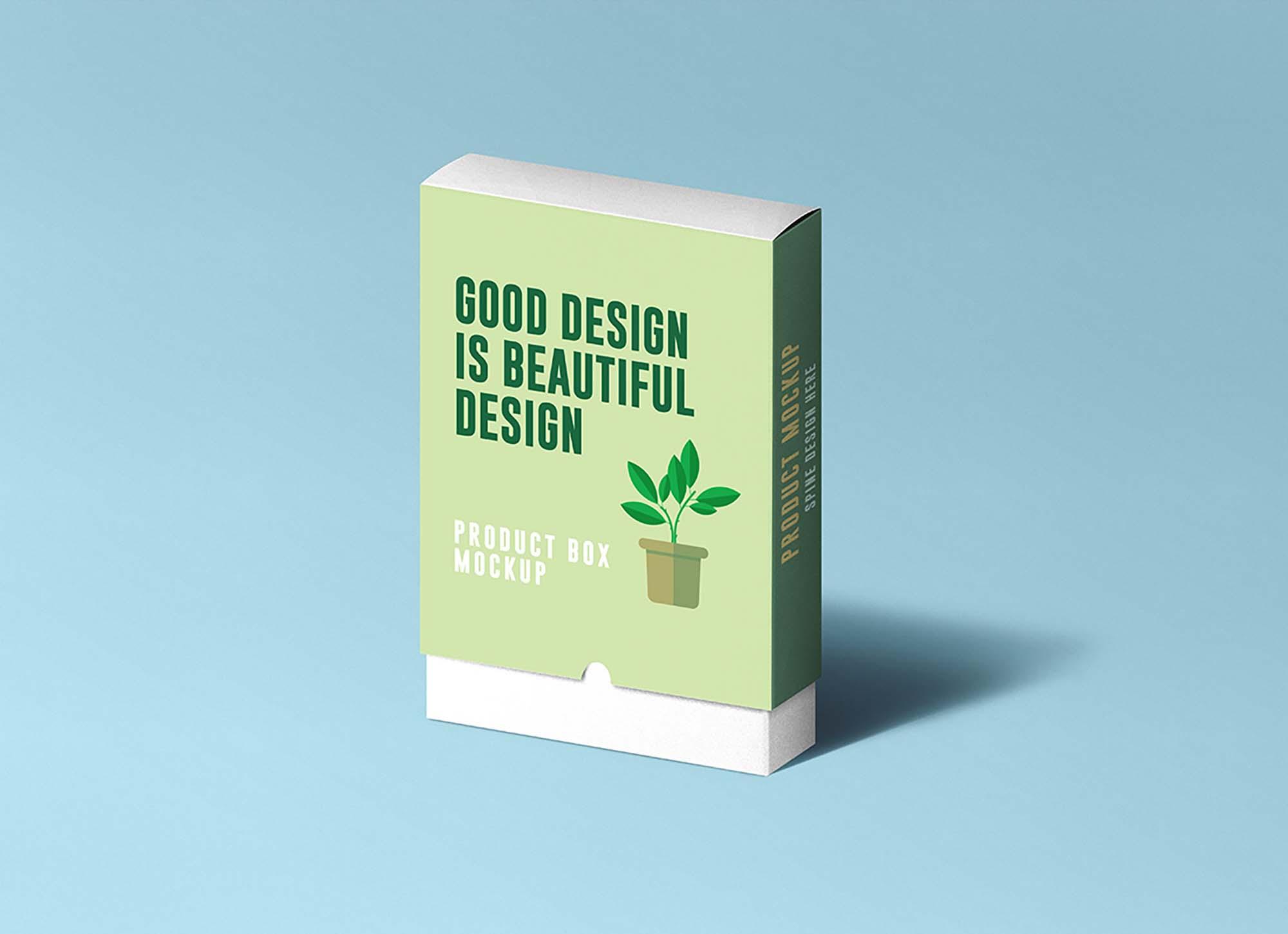 Slide Product Box Mockup 2