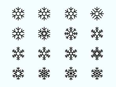 Snowflake Vector Icons