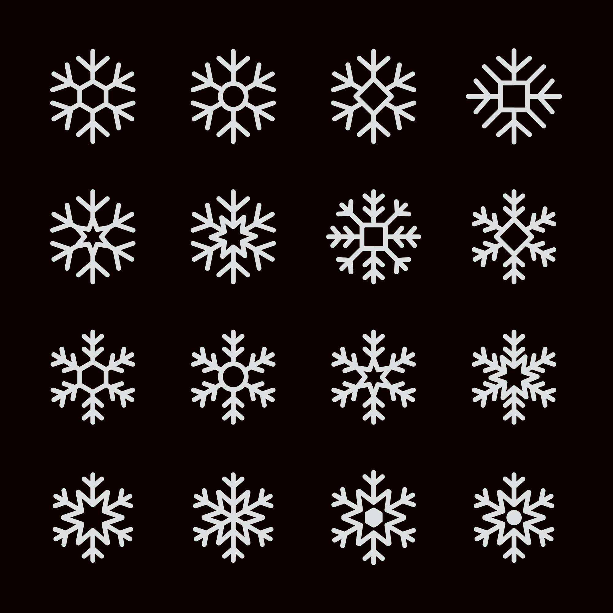 Snowflake Vector Icons 2