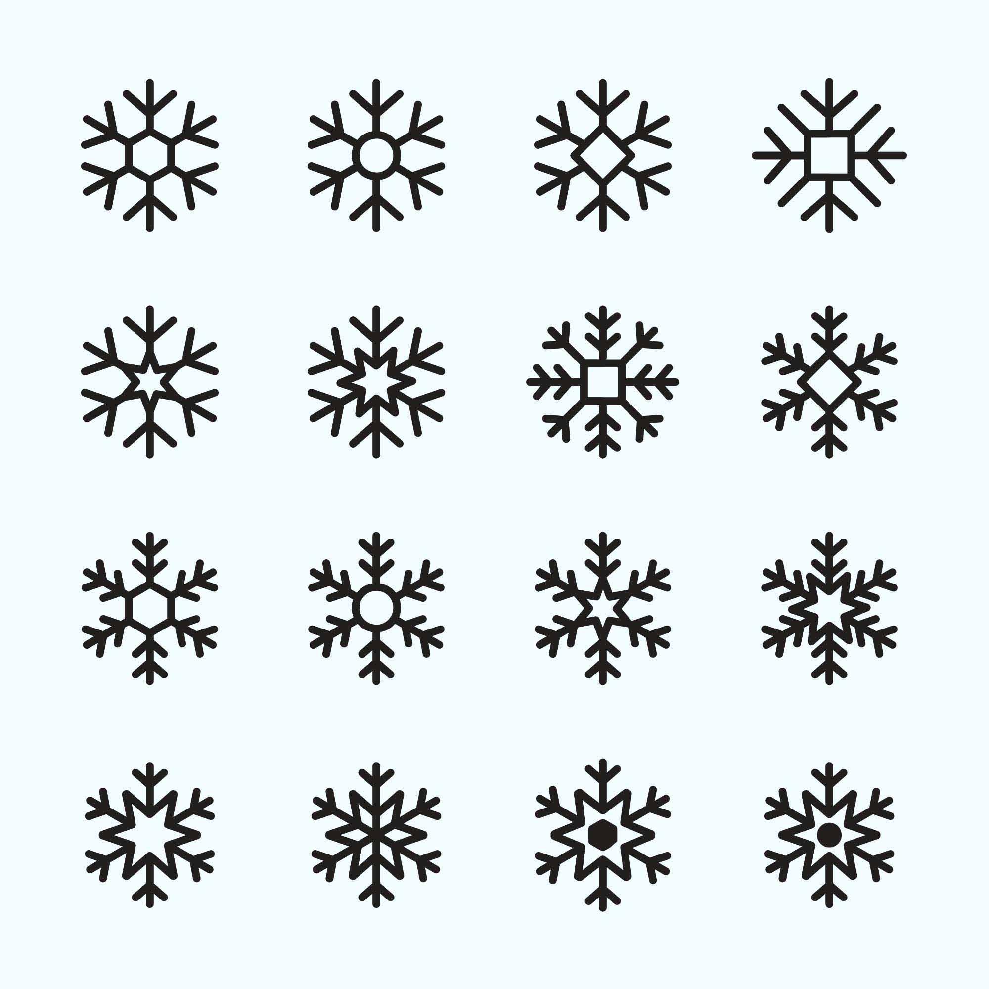Snowflake Vector Icons