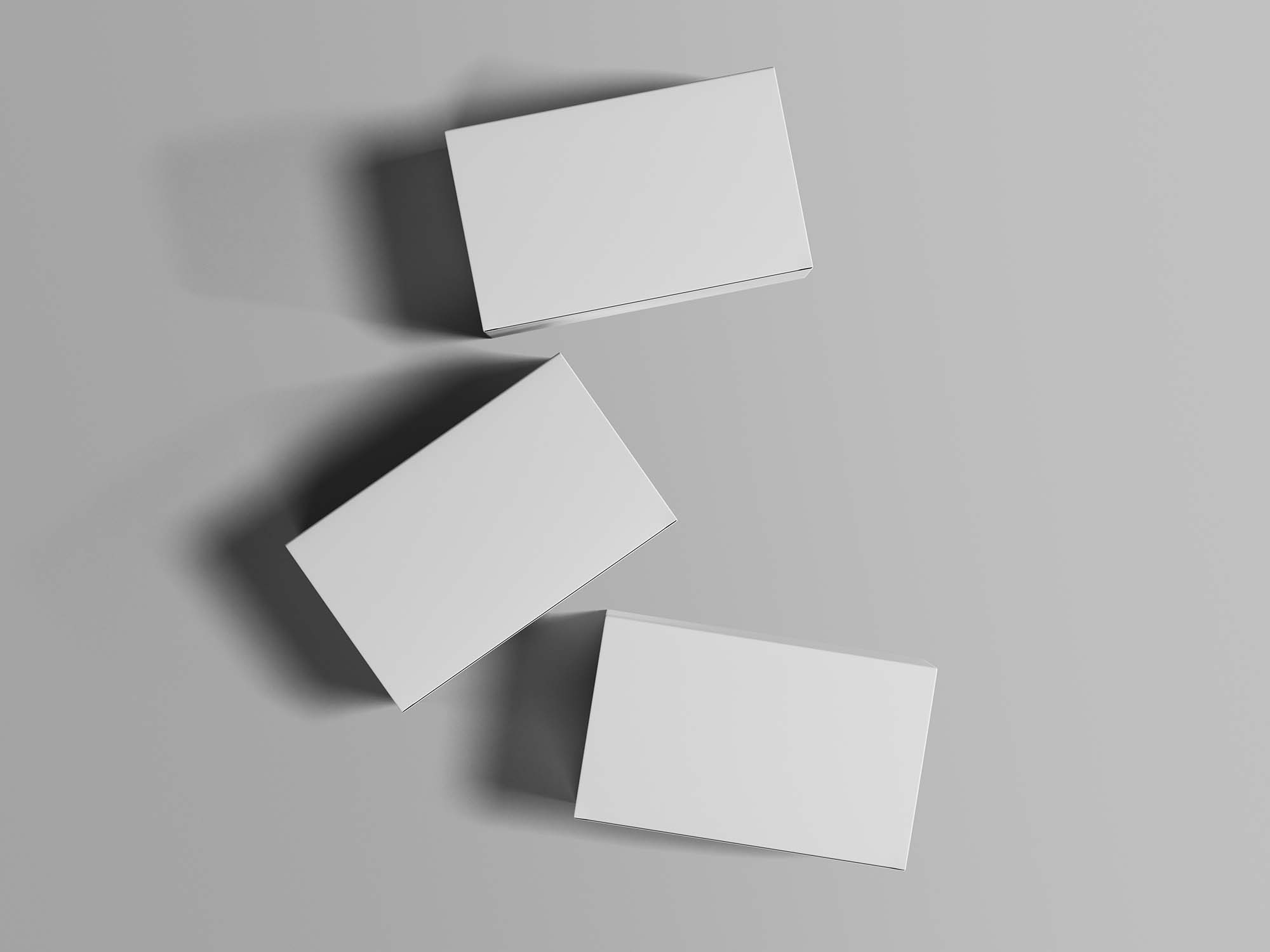 Top View Box Packages Mockup 2