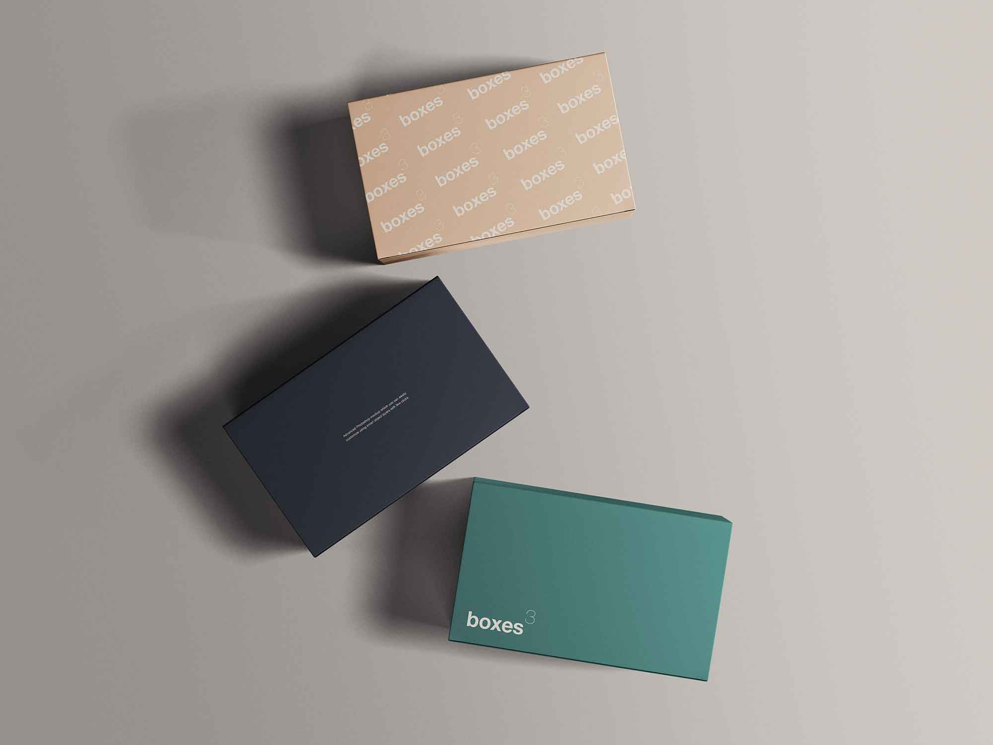 Top View Box Packages Mockup