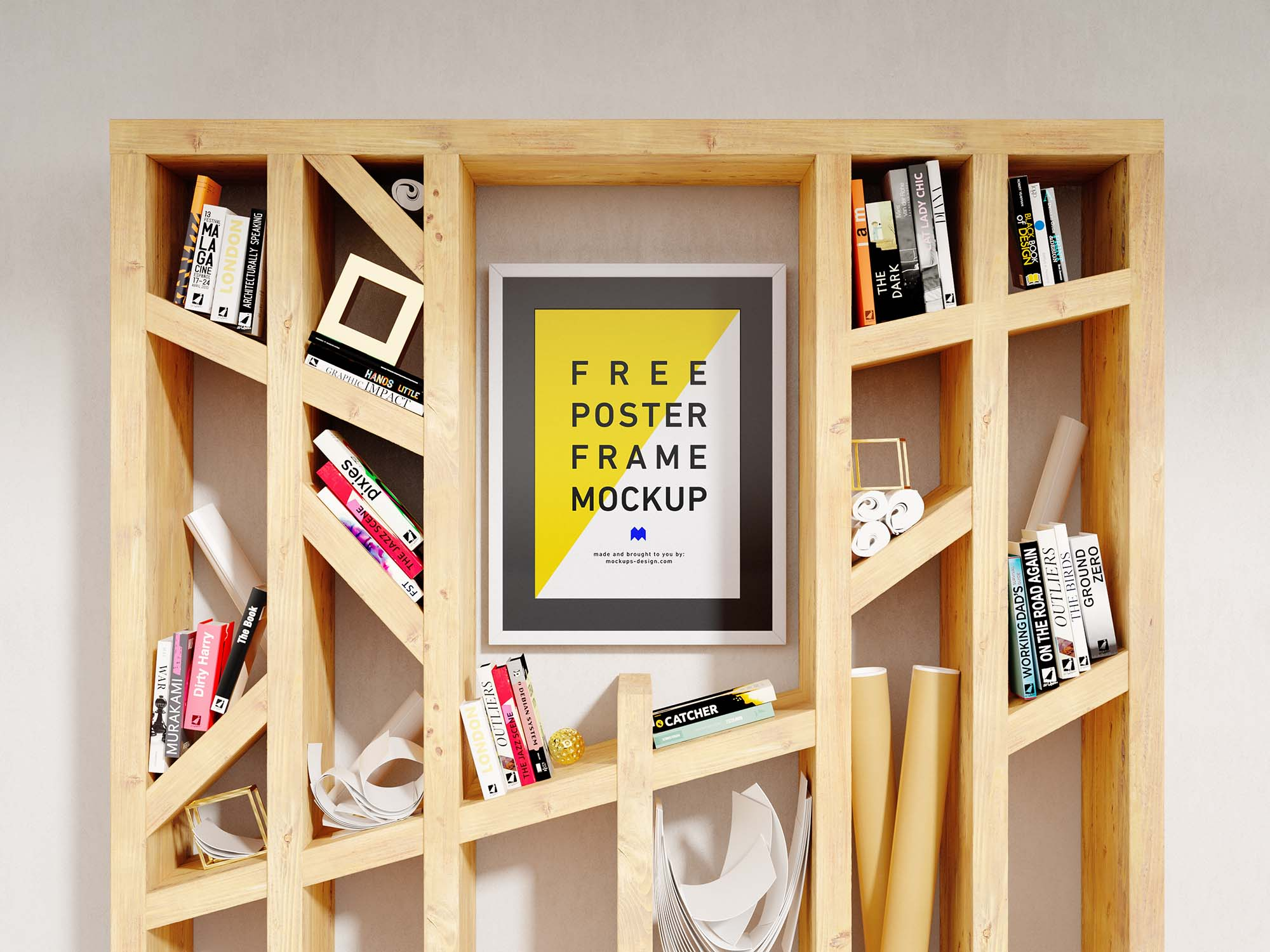 Vertical Poster Frame Mockup