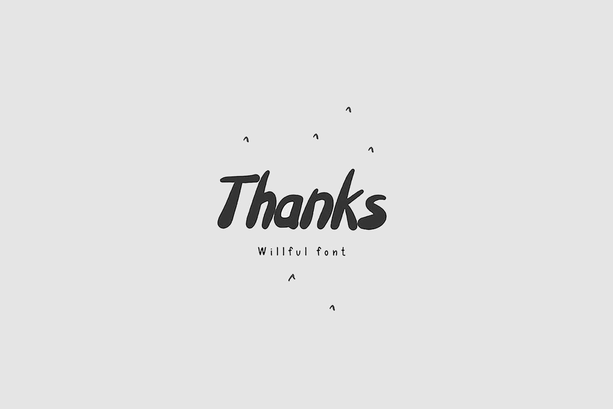 Willful Font 6