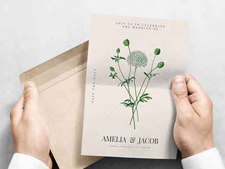 in Hand Invitation Mockup