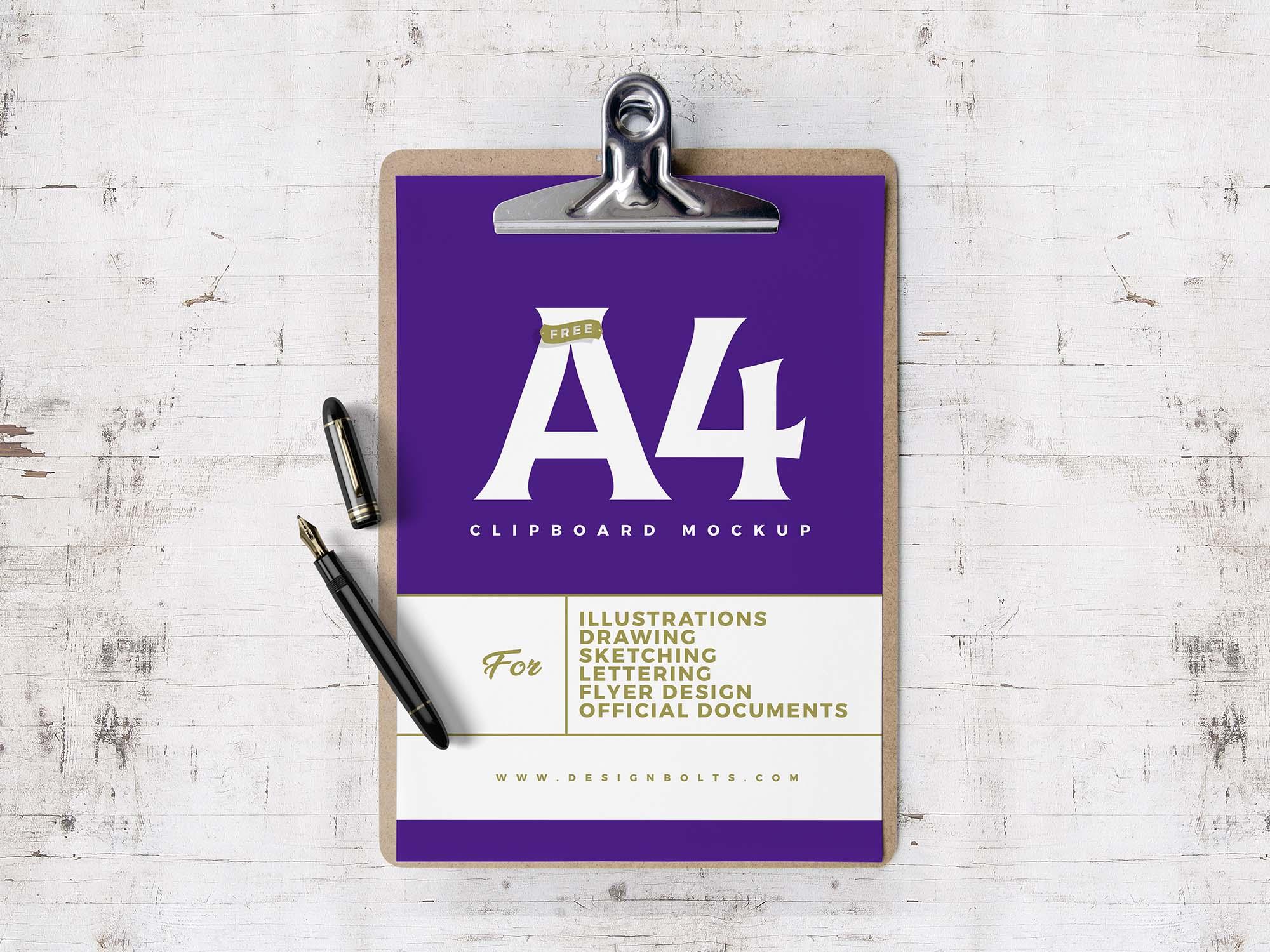 A4 Clipboard Flyer Mockup