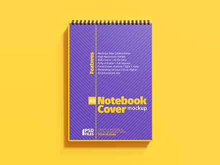 A5 Cover Notebook Mockup