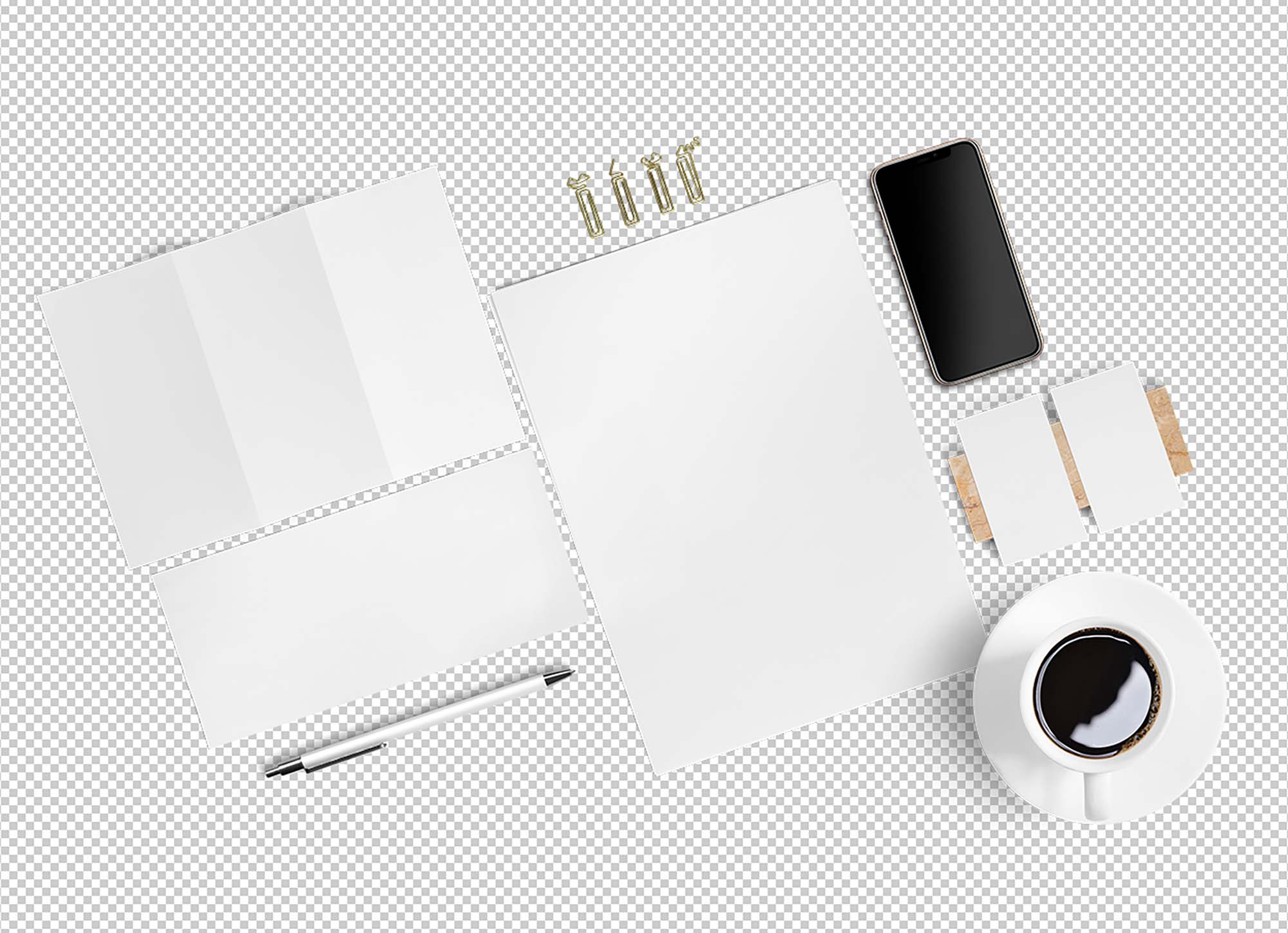 Bird's-eye View Stationery Mockup 2