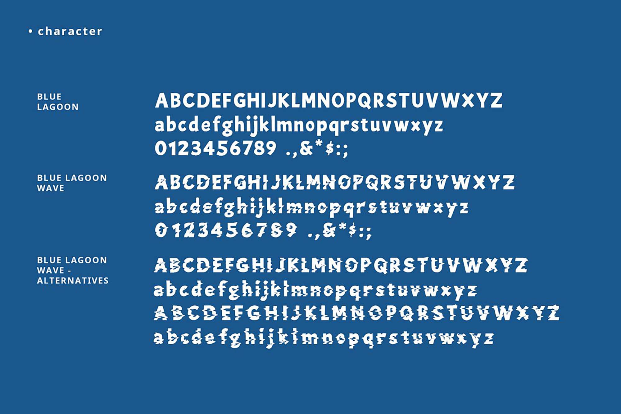 Blue Lagoon Font 7
