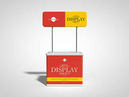 Brand Promotion Display Mockup
