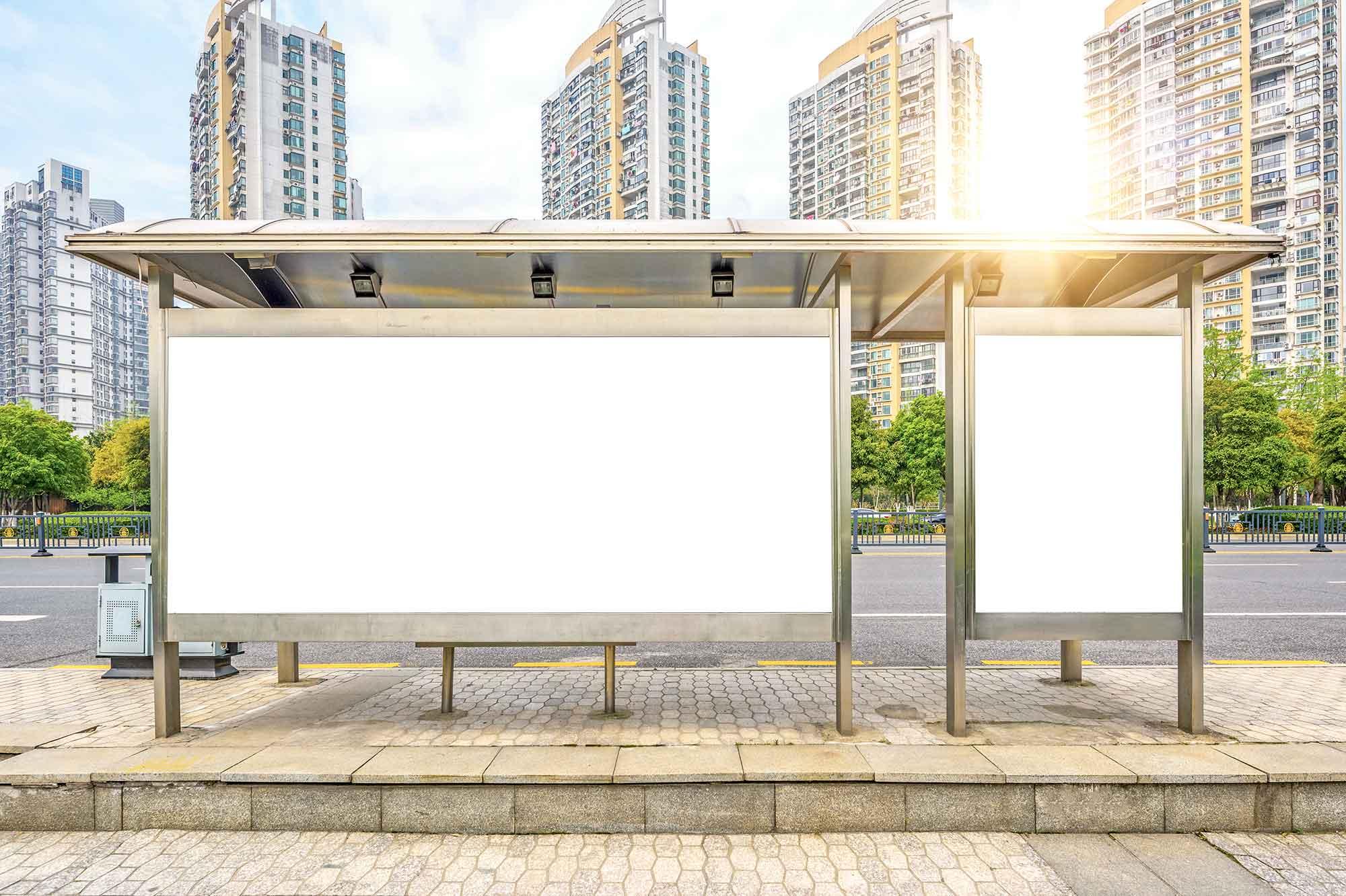 Bus Stop Billboards Mockup 2