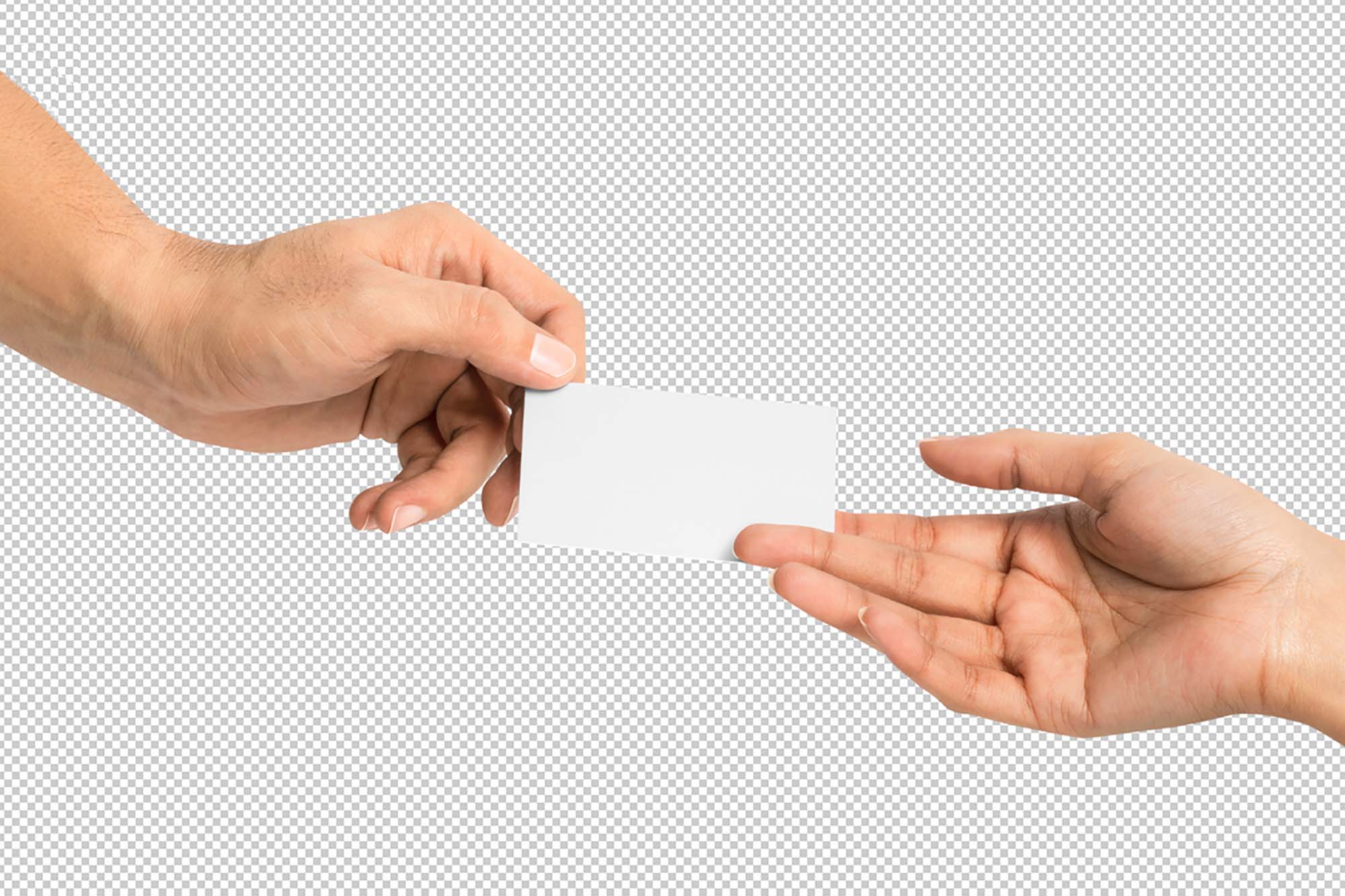 Business Card Given in Hand Mockup 2