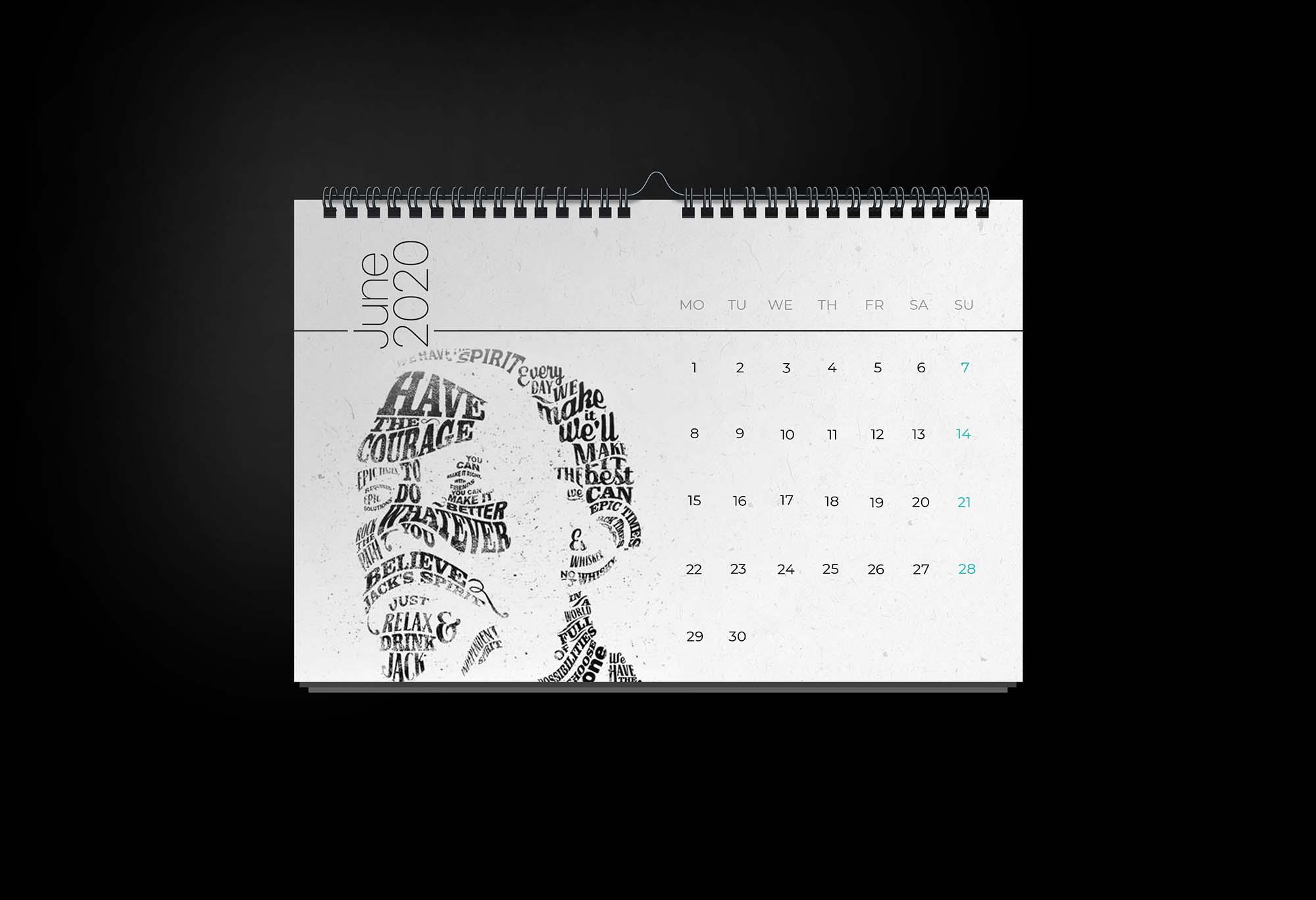 Calendar 2020 Mockup Template 2