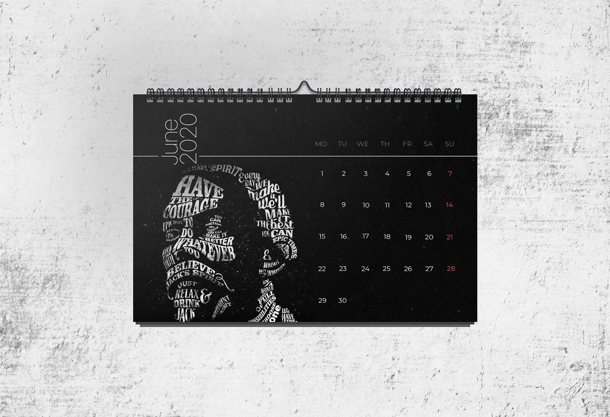 Calendar 2020 Mockup Template