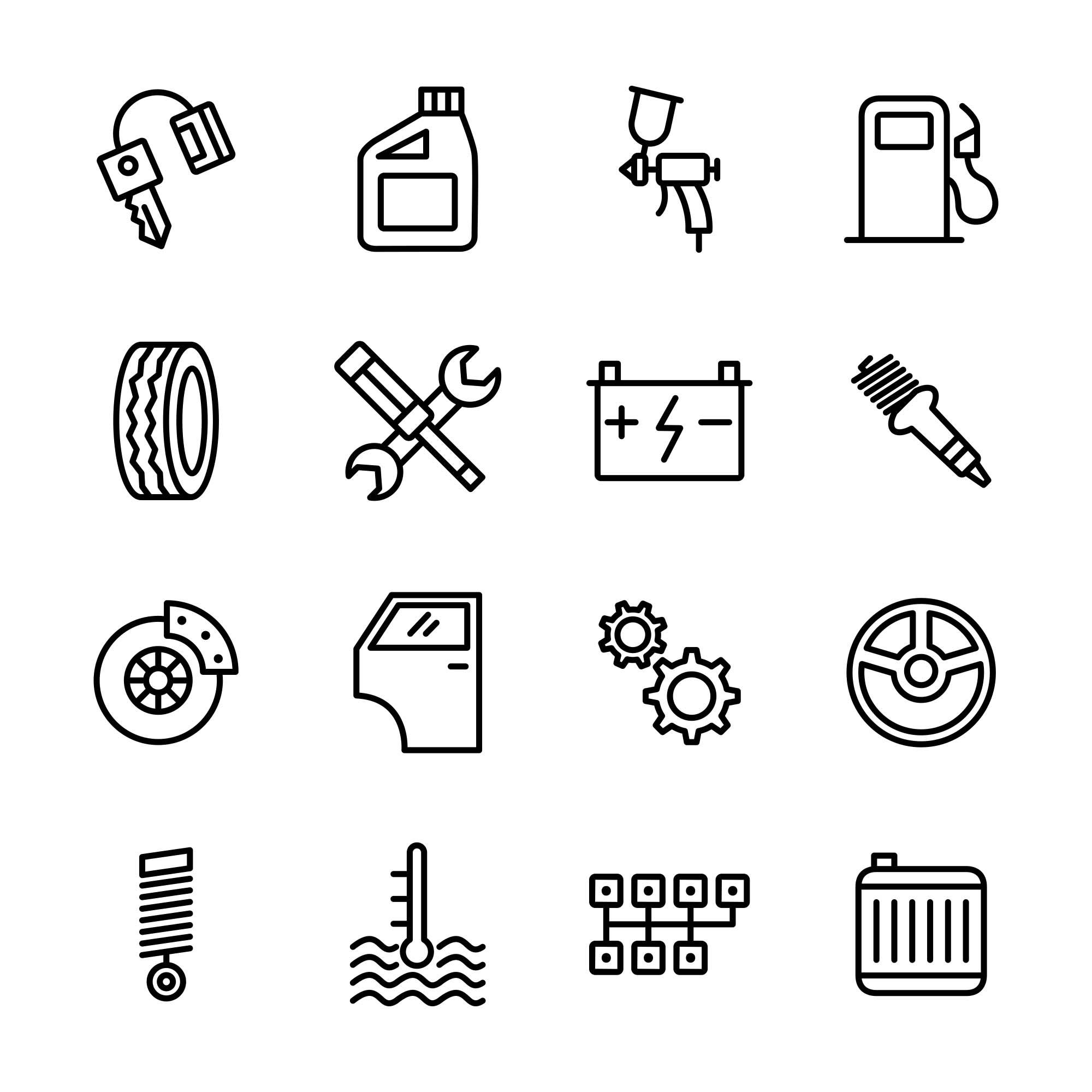 Car Service Icons 2