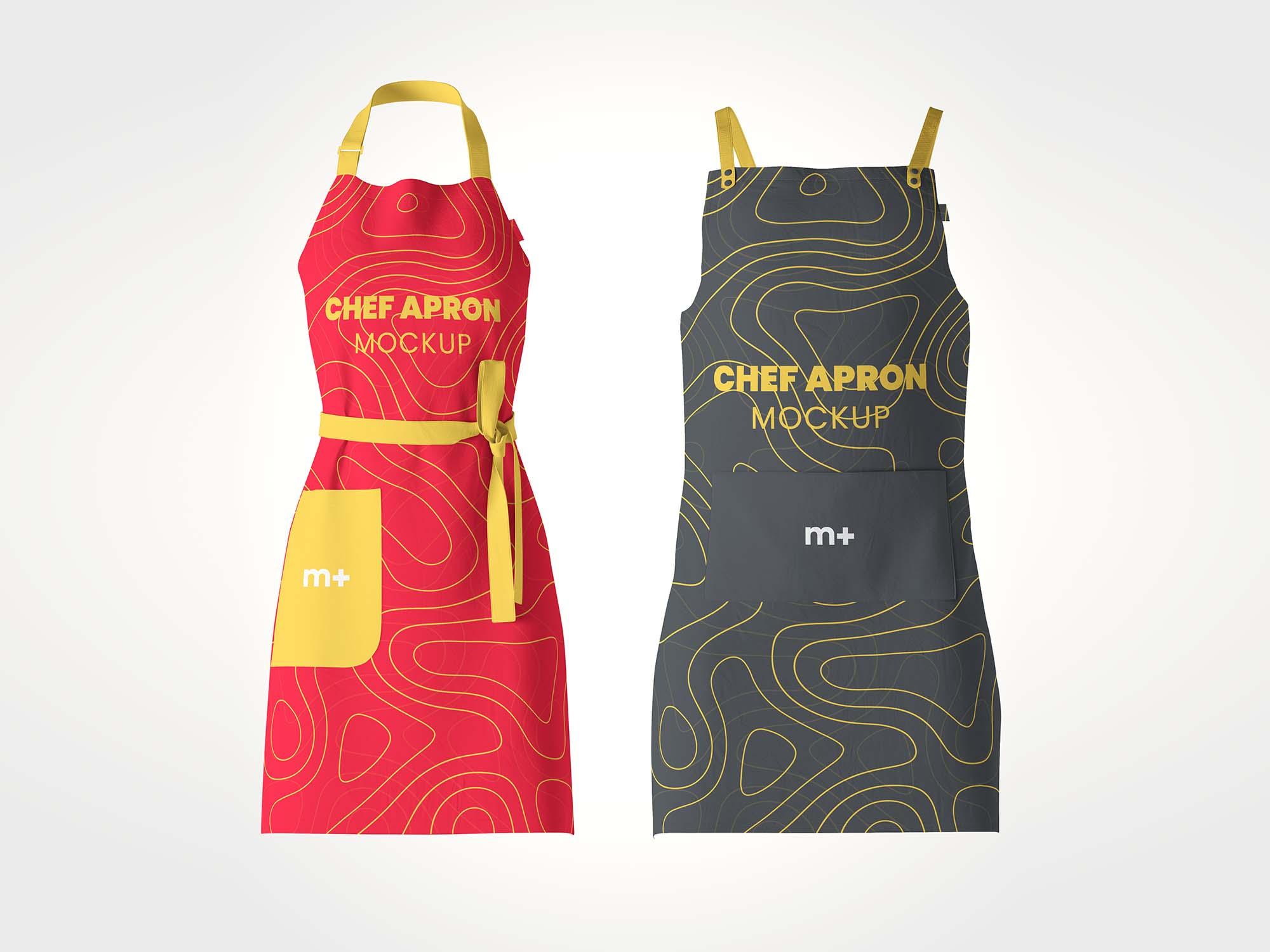 Chef Kitchen Apron Mockup