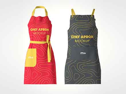 Chef Kitchen Apron Mockup