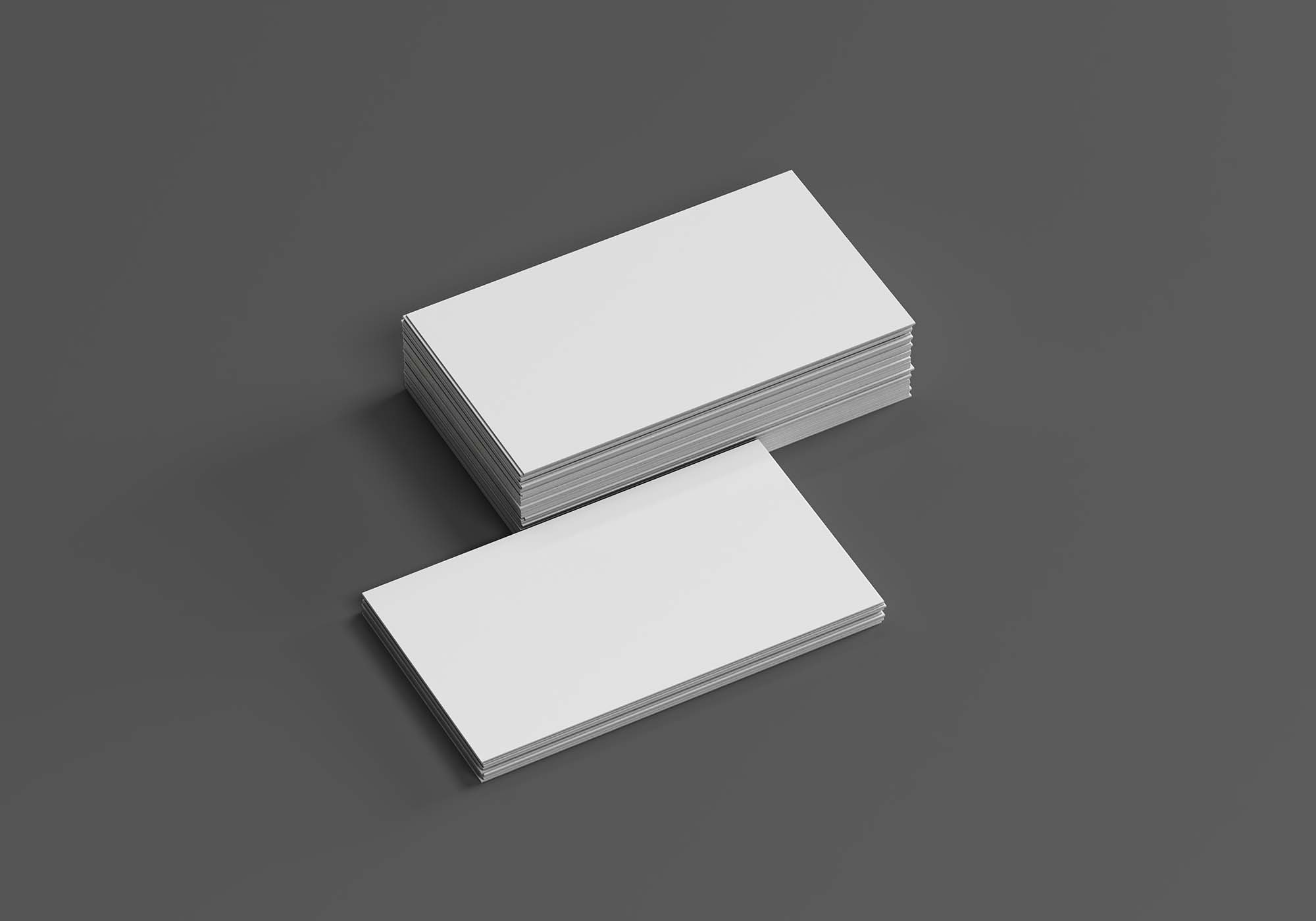 Classic Business Cards Mockup 2