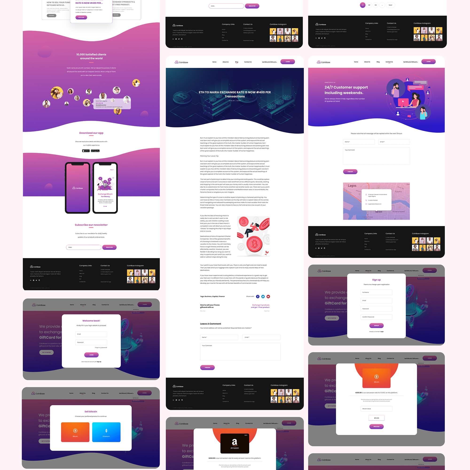 CoinBase Web & Mobile UI Kit 5