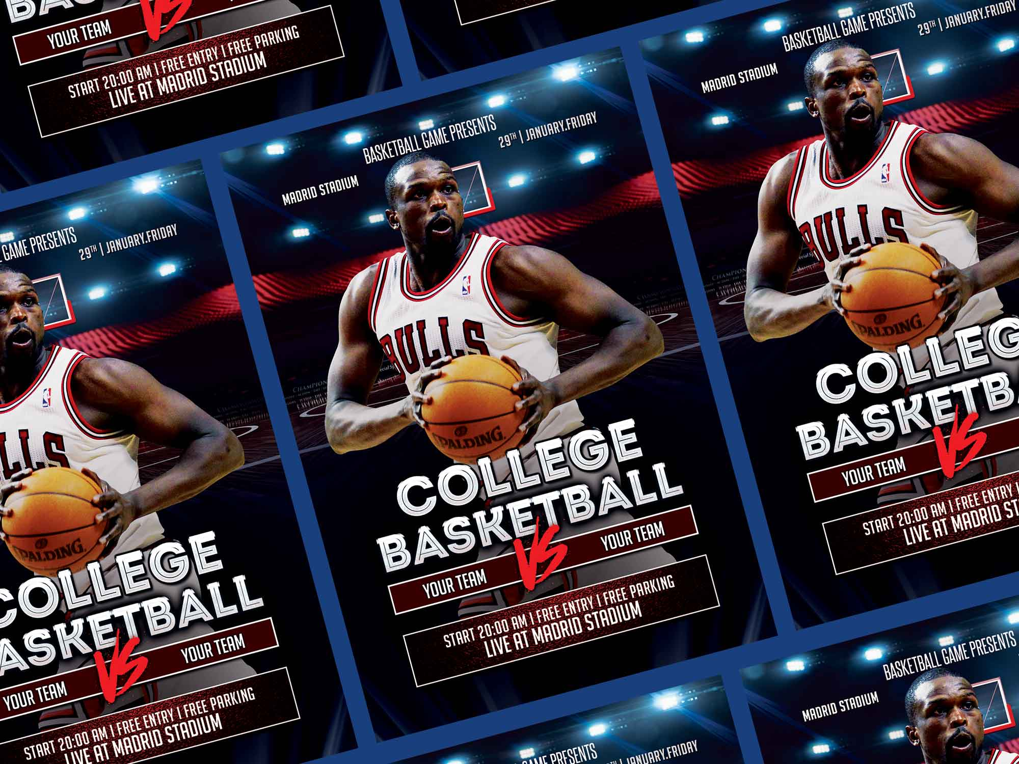 College Basketball Flyer Template 2