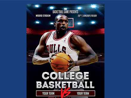 College Basketball Flyer Template