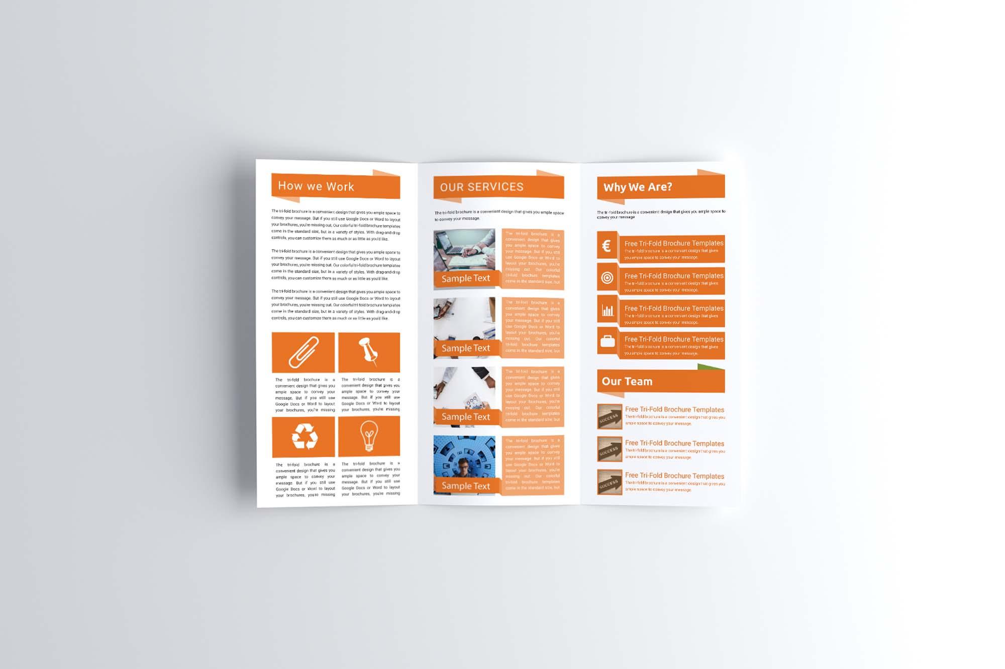 Corporate Trifold Brochure Mockup