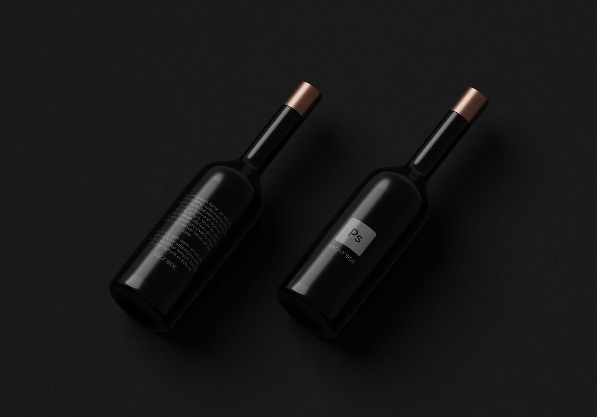 Dark Bottles Mockup