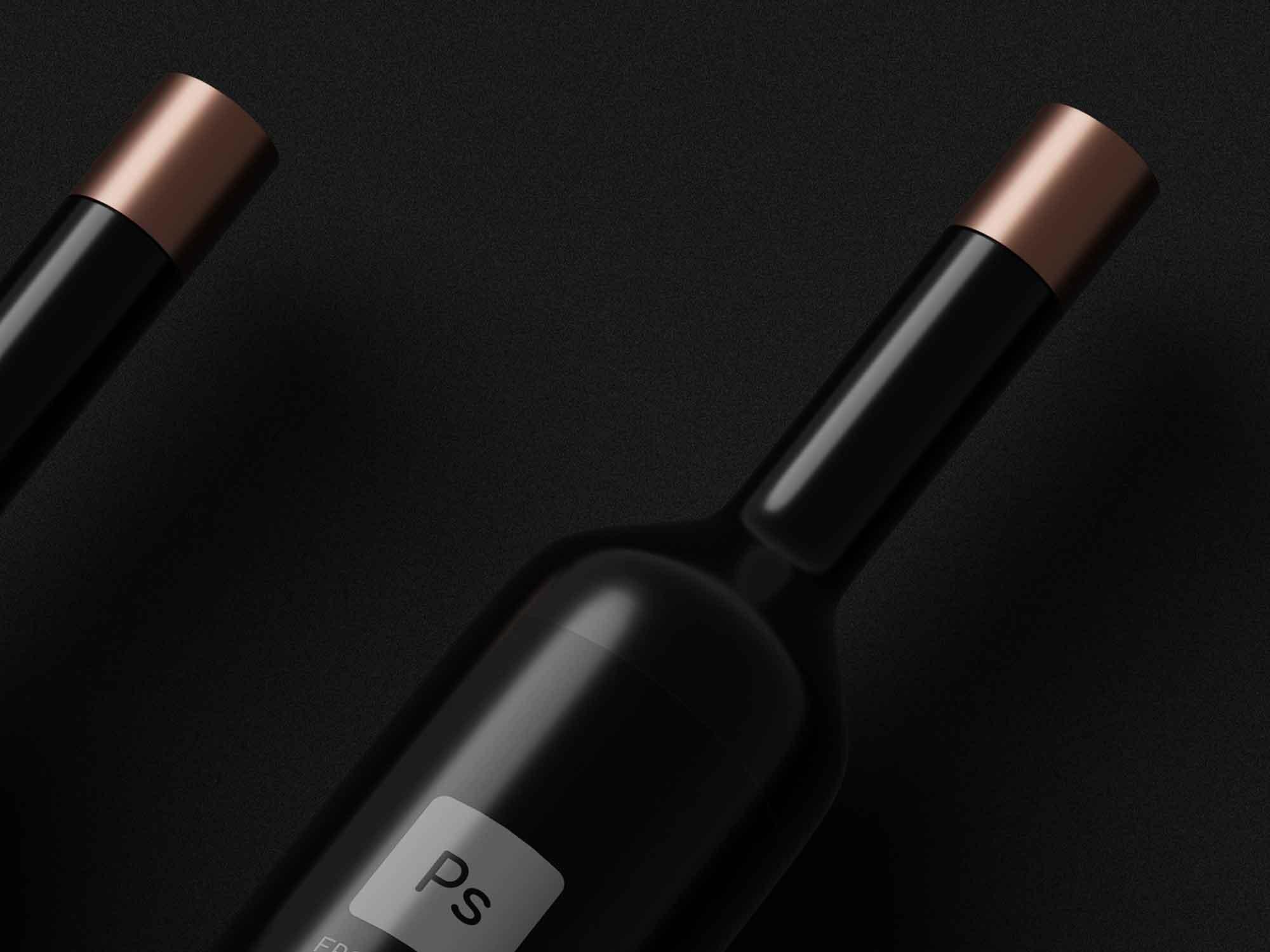 Dark Bottles Mockup 2