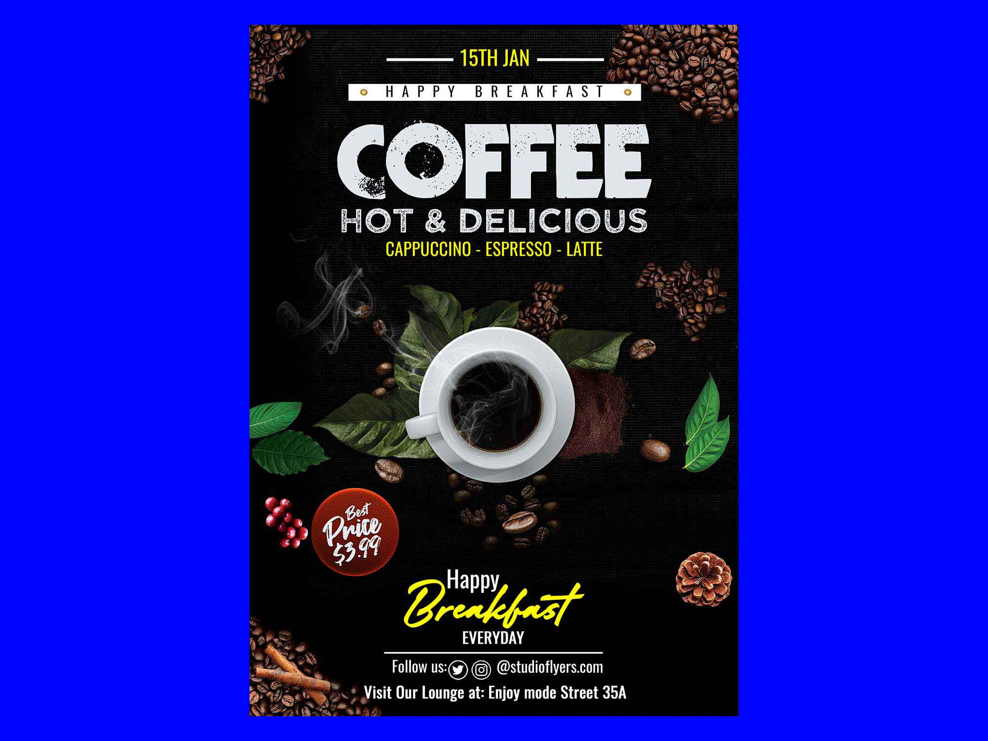 Delicious Coffee Flyer Template