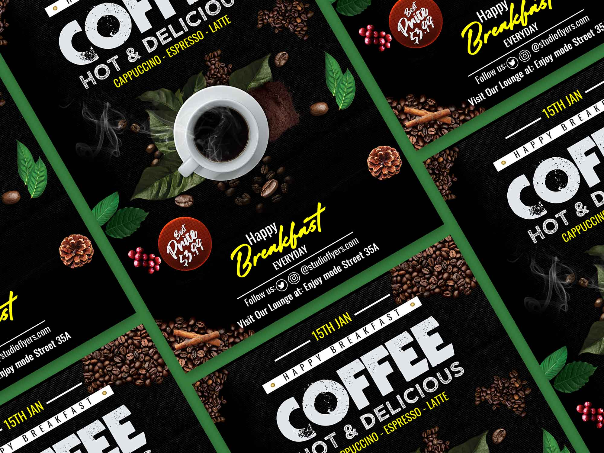Delicious Coffee Flyer Template 2