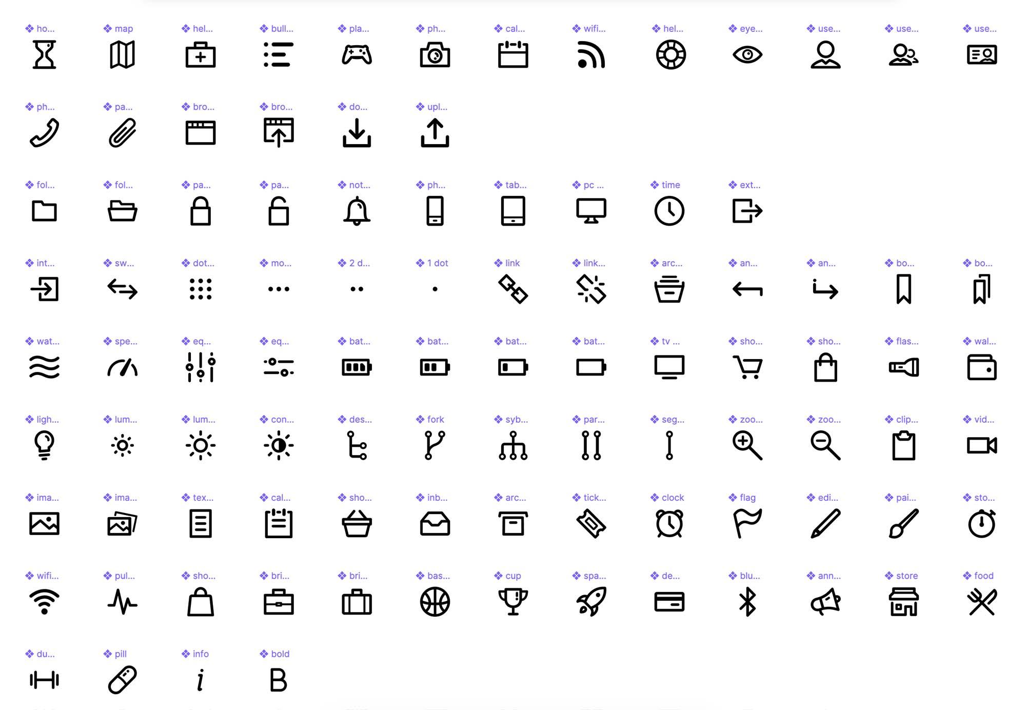 Dripicons Icons Figma Library 1
