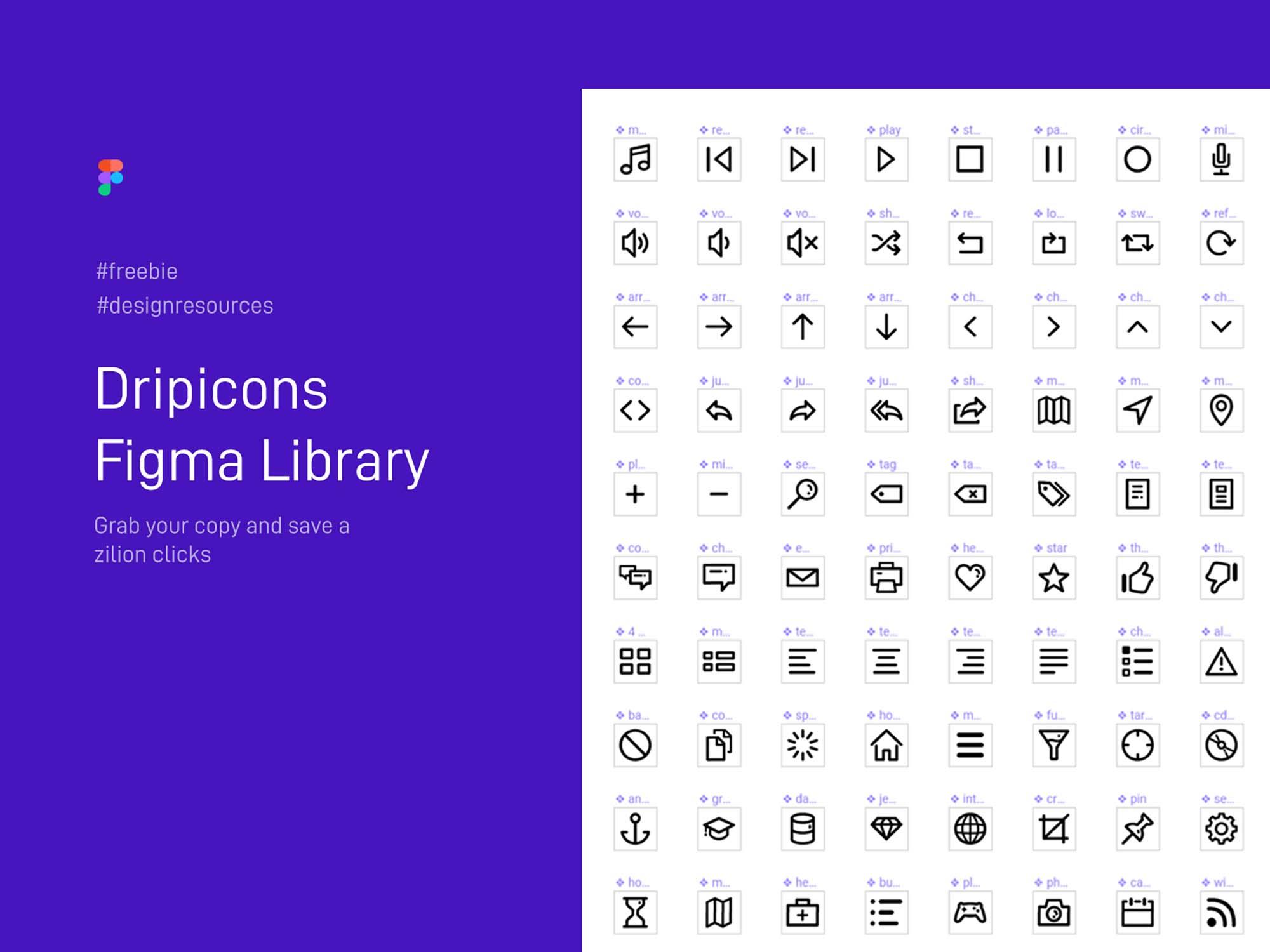 Dripicons Icons Figma Library
