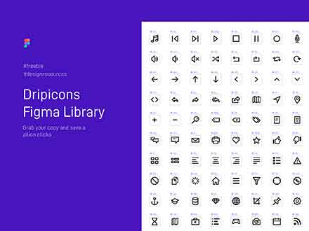 Dripicons Icons Figma Library