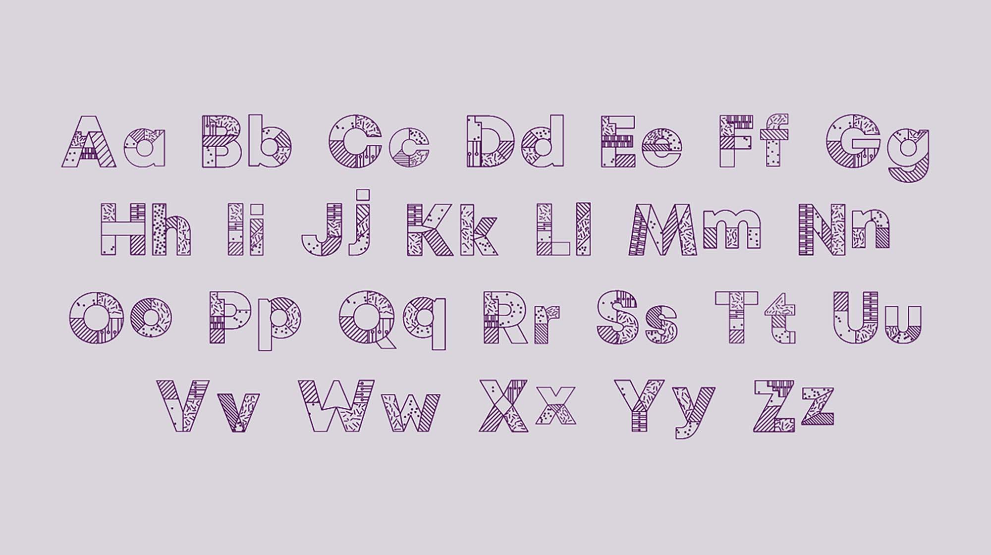 Enigma Display Font Letters