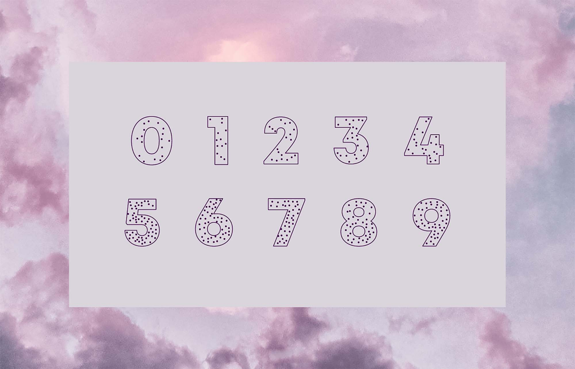 Enigma Display Font Numbers