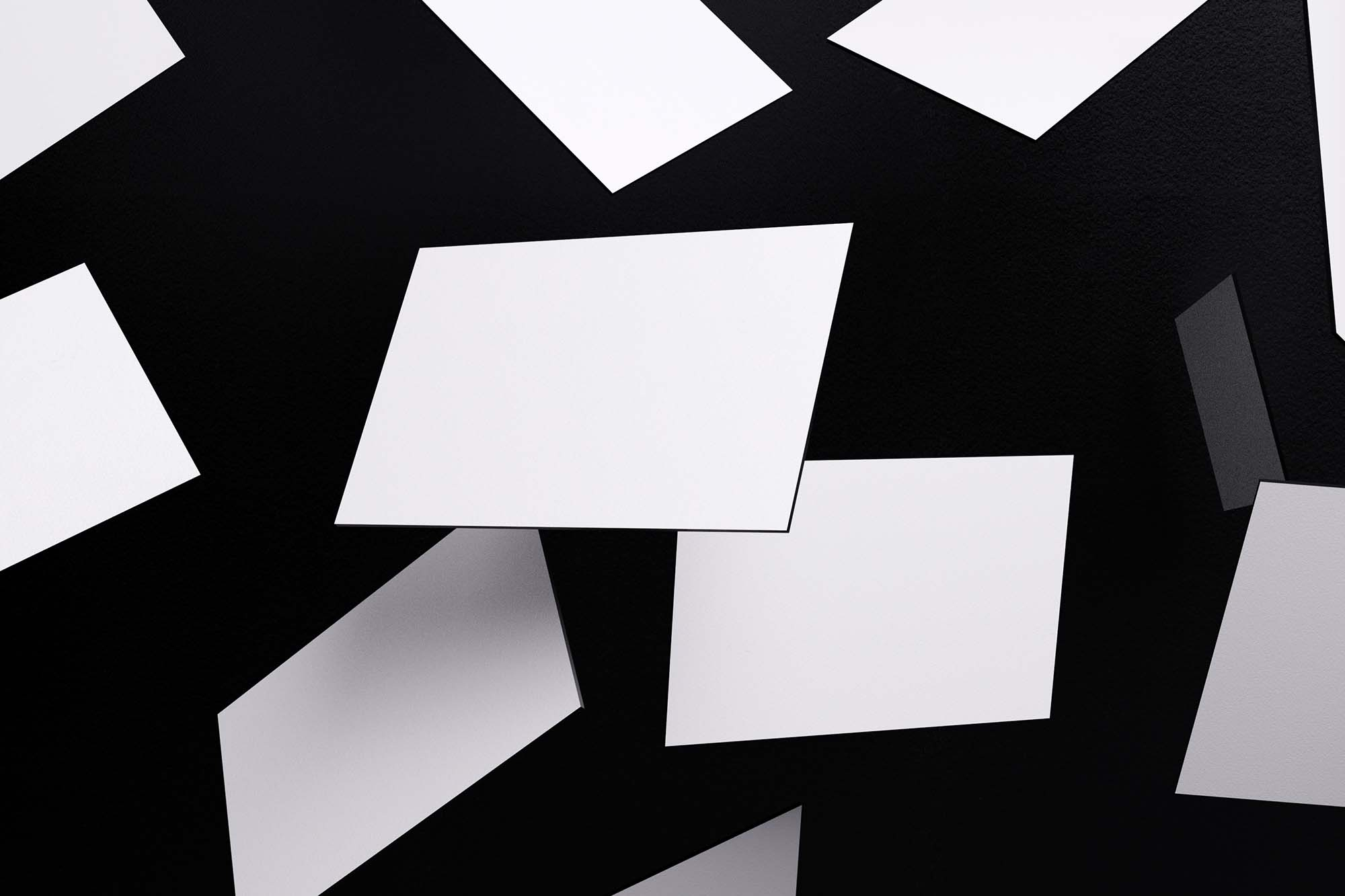 Falling Business Cards Mockup 2