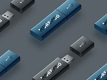 Flash Drives Mockup