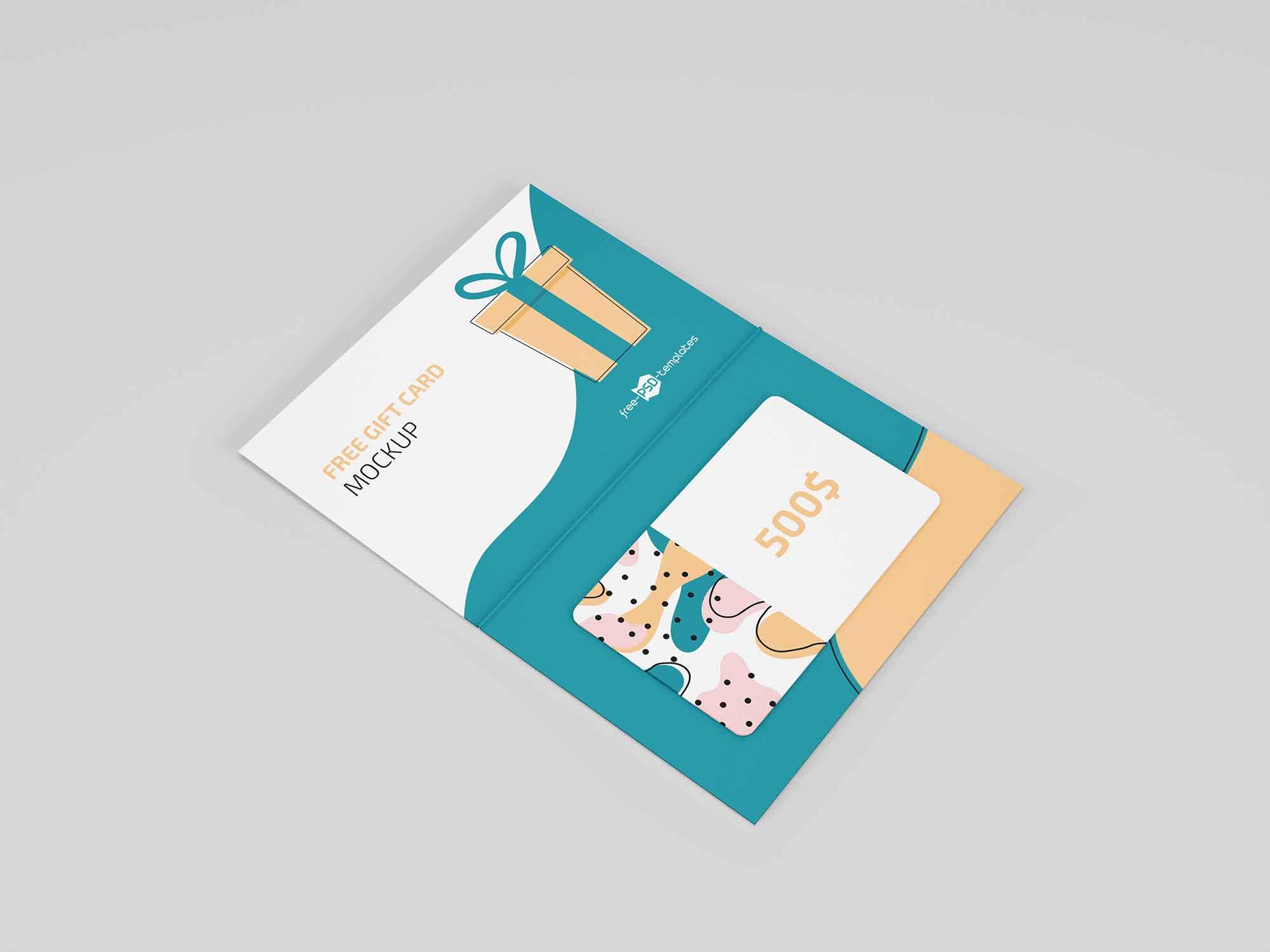Floating Gift Card Mockup 1