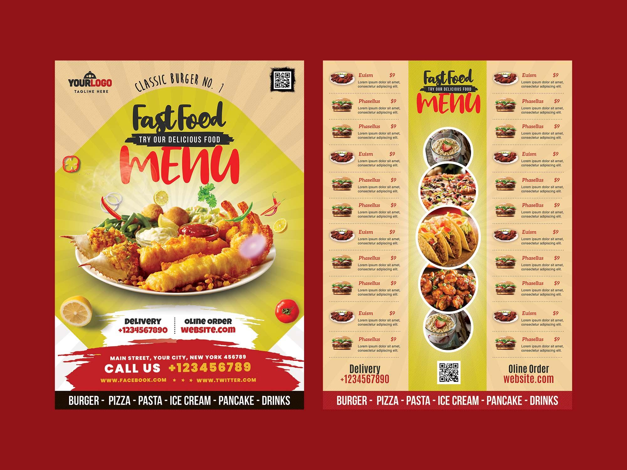 Food Menu Card Template