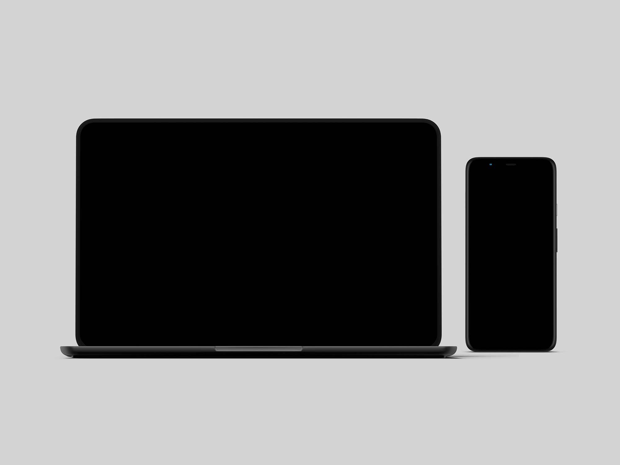 Pixel 4 and PixelBook Go Mockup 2