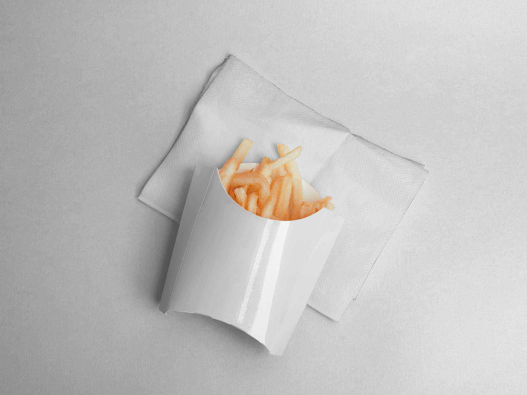 French Fries Packaging Mockup 3