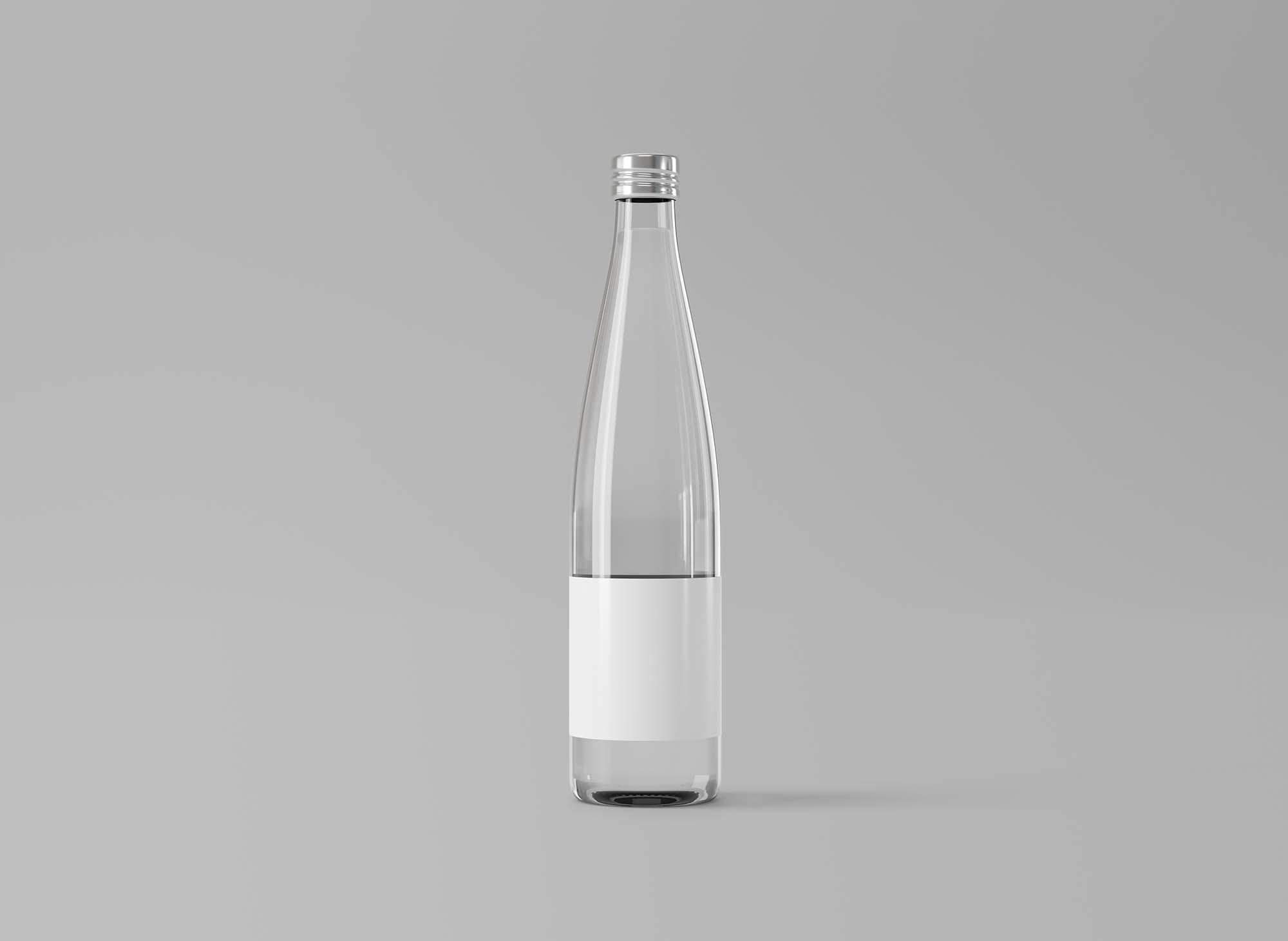 Glass Water Bottle Mockup 2